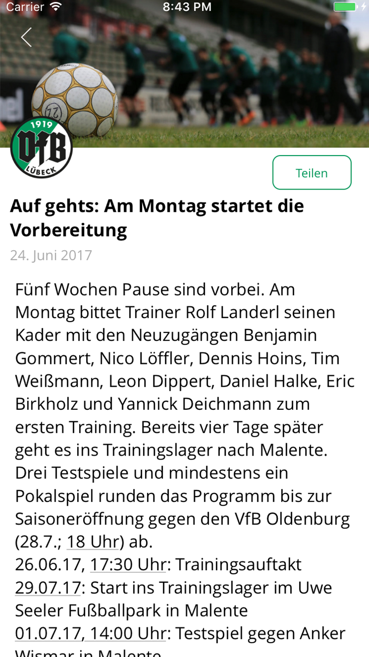 VfB Lübeck - Official app